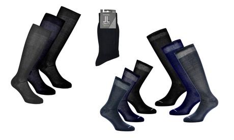 6 o 9 paia di calzini Lancetti, corti o lunghi, in cotone elasticizzato o filo di Scozia, in varie taglie
