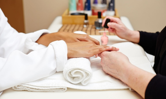 Escape Nails & Spa - Deerfield: $25 for One Acrylic Pink and White Nail Set at Escape Nails and Spa ($50 Value)