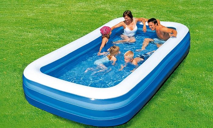 Piscina gonfiabile rettangolare groupon goods - Poltrone gonfiabili per piscina ...