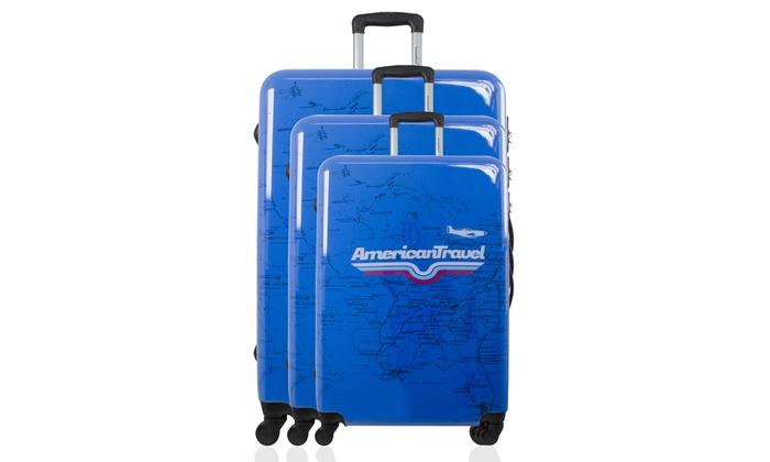 Adoración Acuario aluminio  1 o set de 3 maletas en ABS y policarbonato American Travel