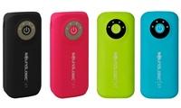 SoundLogic Rapid-Charging 5600 mAh Neon Portable Power Bank with Flashlight - Multiple Color