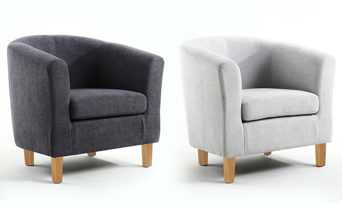 chenille tub chairs