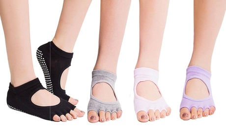 1, 2 oder 4 Paar Yoga-Zehensockenin der Farbe nach Wahl