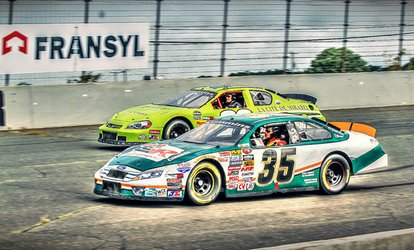 Two, Three or Five Laps in a NASCAR Race Car at École de Stock-Car Jean-Paul Cabana (Up to 61% Off)