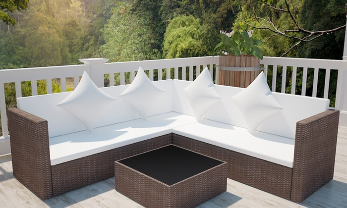Groupon Salon De Jardin Resine Tressee. Simple Salon De Jardin Cap ...