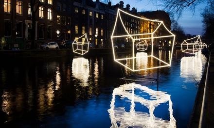 Amsterdam Light Festival: rondvaart incl. drankjes en gids op De Britannia