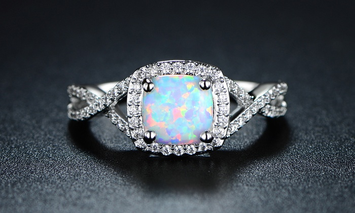 4 00 Ring Braided Fiery Opal White Engagement Ctw pqVzGSUM