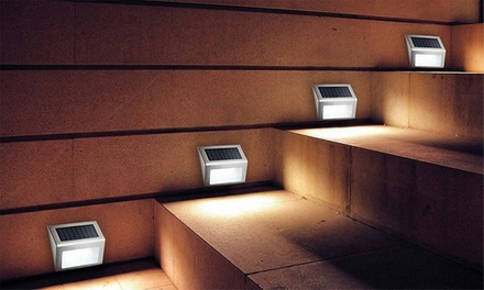 Solar-Powered Eco-Friendly and Energy-Saving Outdoor Lights: Two ($16.95) or Four ($29.95)