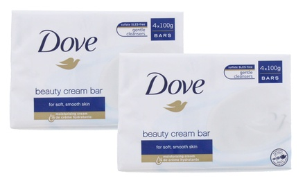 EightPack of Dove Original Soap with ¼ Moisturising Cream 100g