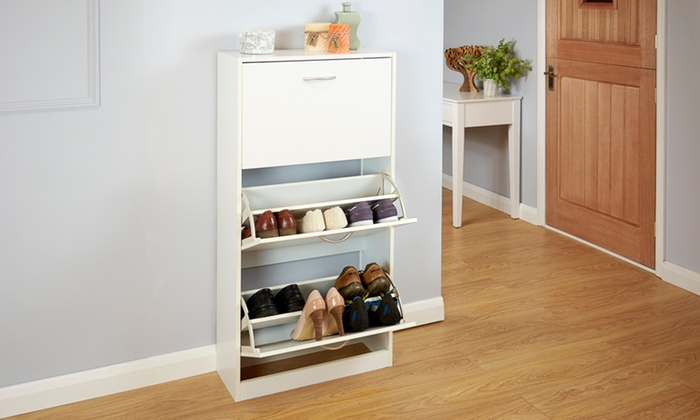 Two- or Three-Tier Shoe Cabinet from £29.99