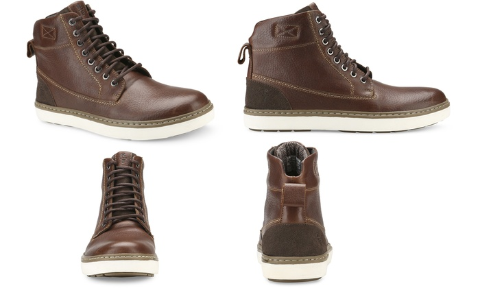 e3d51e43a16 Reserved Men's Cromwell Leather Mid-top Boots | Groupon