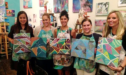 Two-Hour BYOB Adult Art Class for One, Two or Four at One Strange Bird (Up to 51% Off)