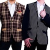 Elie Milano Italy Men's Plaid B5 Blazer/Jacket