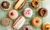 Six Gourmet Doughnuts with Coffee