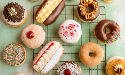 $9.90 for Box of Six Gourmet Doughnuts with Coffee at Walker's Doughnuts Harbourside Sydney Up to $23.70 Value