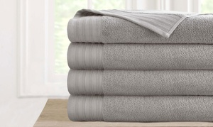 New Amrapur Quick-Dry Oversized Bath Sheet Set (4-Pack)