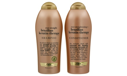 $22.95 for TwoPack Salon Size 750ml OGX Shampoo & Conditioner Keratin Therapy or Coconut Milk Don't Pay Up To $70.46