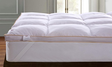 Dickens Gold Edge 5cm Goose Feather and Down Mattress Topperor Goose Feather and Down Pillows