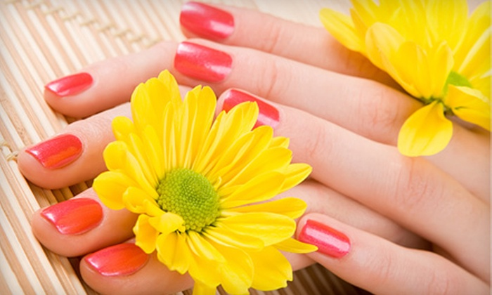 Nail Matrix - Driftwood: $25 for a No-Chip Gel-Polish Spa Manicure and a Deluxe Pedicure with Paraffin Wax Treatment at Nail Matrix ($80 Value)