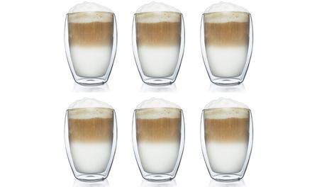 Set van 2, 4 of 6 dubbelwandige glazen van 250 of 400 ml. van het merk Creano
