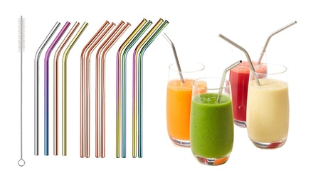 Up to Twelve Vivo Stainless Steel Reusable Straws