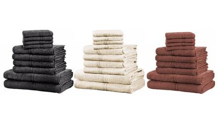 Set de 10 serviettes de bain