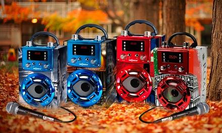Altavoz bluetooth con karaoke y micrófono