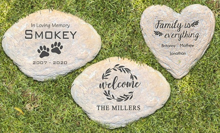 Custom Engraved Large Garden Stone (Up to 56% Off)
