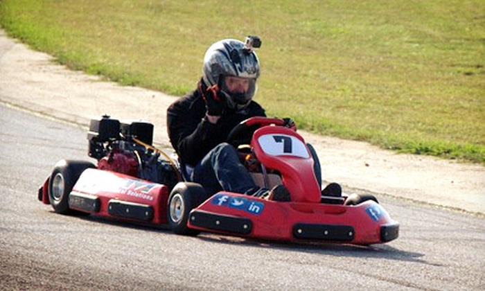 On Track Xperience - Central Texas Speedway: Three-Race Go-Kart Package for One or Two at On Track Xperience (Up to 51% Off)