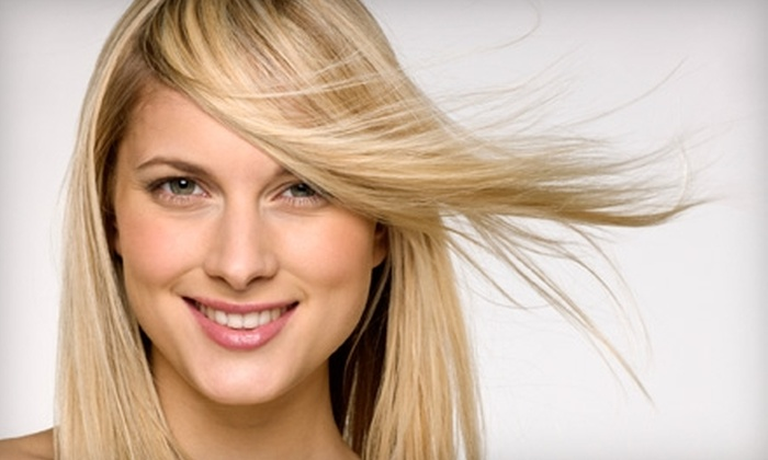Fusions Hair Salon - Matthews: Highlights and Waxing Services at Fusions Hair Salon in Matthews. Three Options Available.