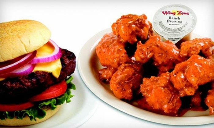 Wing Zone - Green Bay: $7 for $15 Worth of Buffalo Wings, Burgers, Shrimp, and More at Wing Zone