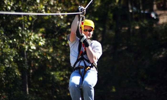 Kersey Valley Zipline - Jamestown: $44 for a Coach-Class Tour at Kersey Valley Zipline  ($89 Value)