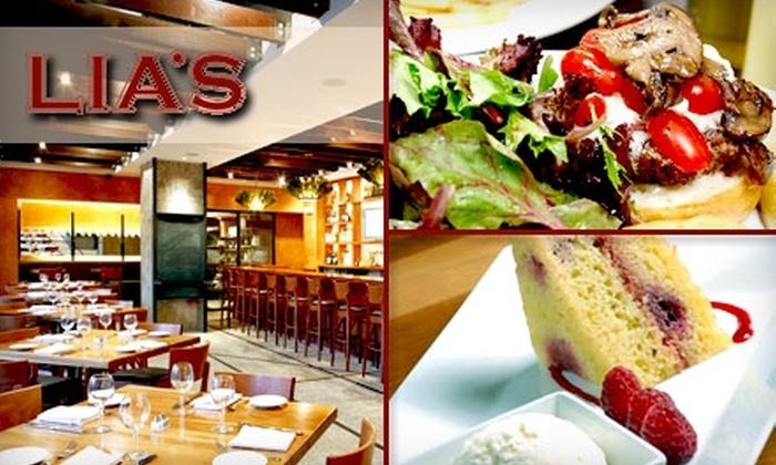 Lia's - 7: $20 for $40 Worth of Contemporary Italian Cuisine at Lia's