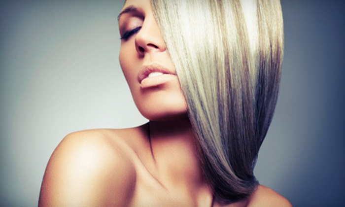 Natural Beauty Salon and Spa - Lubbock: Haircut, Style, and Keratin Treatment Package with or without Color at Natural Beauty Salon and Spa (Up to 55% Off)