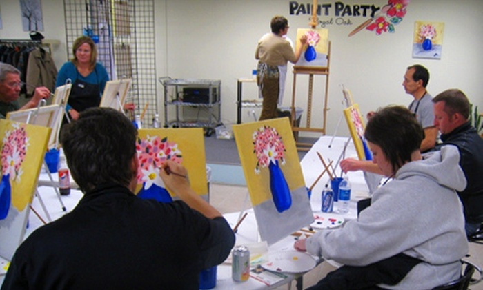 Paint Party Royal Oak - Royal Oak: One, Two, or Five Seats in a Painting Class at Paint Party Royal Oak (Up to 53% Off)