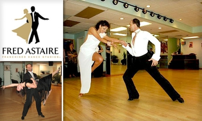 Fred Astaire Dance Studios Greensboro - Kings Mill: $19 for Three Group Dance Lessons and Two Private Lessons at Fred Astaire Dance Studio ($40 Value)