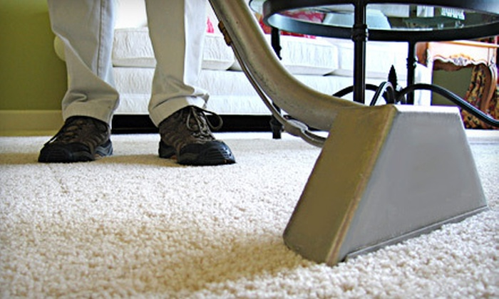 Nu-Life Carpet & Upholstery Cleaner - Frenchtown Woods: One or Three Three-Room Carpet Cleanings or Sofa Cleaning from Nu-Life Carpet & Upholstery Cleaner (Up to 85% Off)