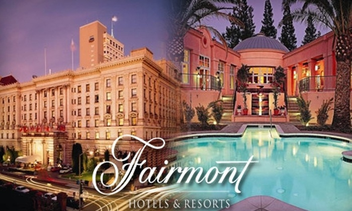 The Fairmont Sonoma Mission Inn & Spa and San Francisco - Multiple Locations: One-Night Stay at The Fairmont San Francisco or The Fairmont Sonoma Mission Inn & Spa. Choose from Four Options.