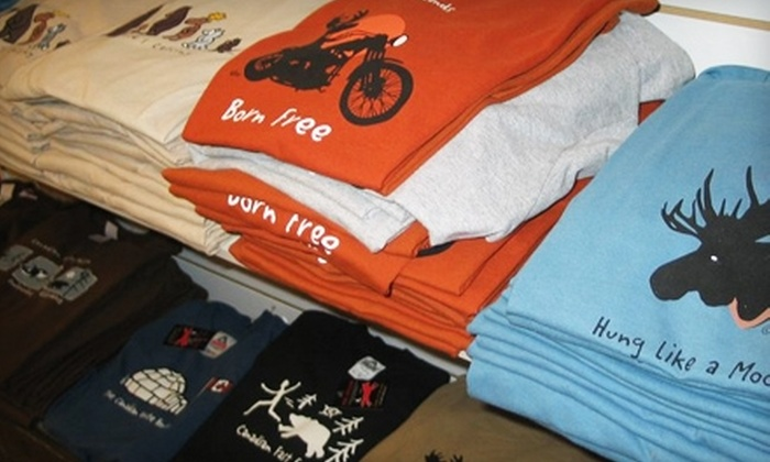 Red Maple - Downtown Kingston: $15 for $30 Worth of Canadian Graphic Apparel at Red Maple