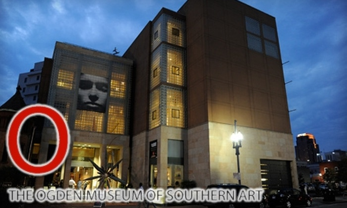 The Ogden Museum - Central Business District: $35 for Family/Dual Membership ($75 Value) or $25 for Individual Membership ($50 Value) at the Ogden Museum of Southern Art