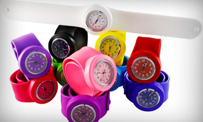 Steinhausen: $12 for a Slide Slap Watch with Three Silicone Bands and Included Shipping from Steinhausen (Up to $59.43 Value)