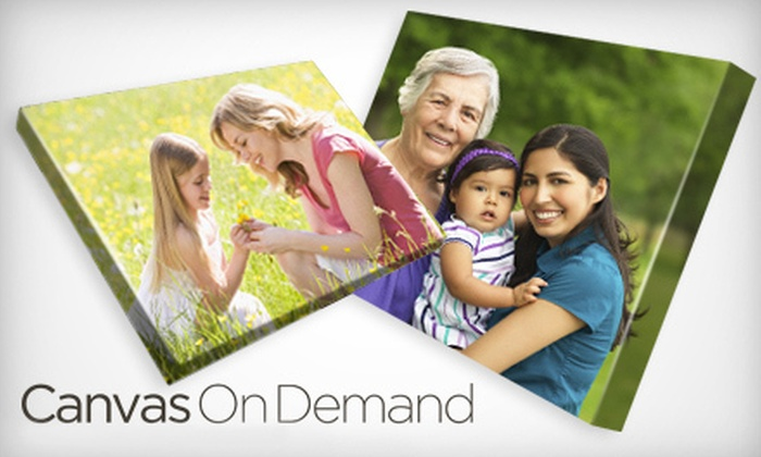 Canvas On Demand: One Gallery-Wrapped Canvas with Shipping and Handling from Canvas on Demand (Up to 65% Off). Three Sizes Available