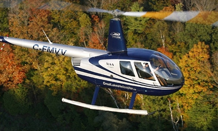 Great Lakes Helicopter - Breslau: $155 for a 20-Minute Private Sightseeing Flight for Three from Great Lakes Helicopter ($310.75 Value)