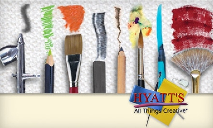 Hyatt's All Things Creative - Henrietta: $10 for $20 Worth of Art Supplies and Merchandise at Hyatt's All Things Creative
