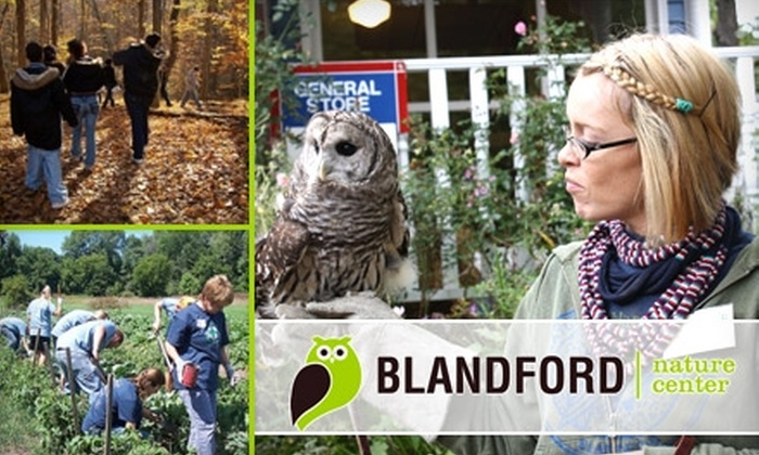 Blandford Nature Center - Westside Connection: $30 for a Family Membership and One Saturday Workshop for a Family of Four from Blandford Nature Center ($62 Value)