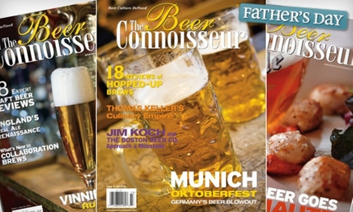 "The Beer Connoisseur: $20 for a Two-Year Subscription to ""The Beer Connoisseur"" Magazine (Up to $40.66 Value)"