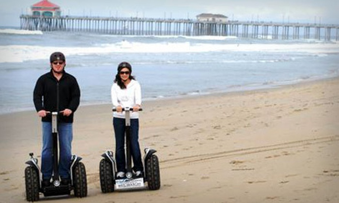 GW Tours - Downtown Huntington Beach: $35 for a 90-Minute Beachcomber Segway Tour with Photo CD from GW Tours in Huntington Beach ($80 Value)