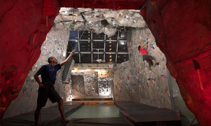 MPHC Climbing Gym - Midtown: Rock-Climbing Lesson with Climbing Day or One-Month Membership at MPHC Climbing Gym (Up to 52% Off)