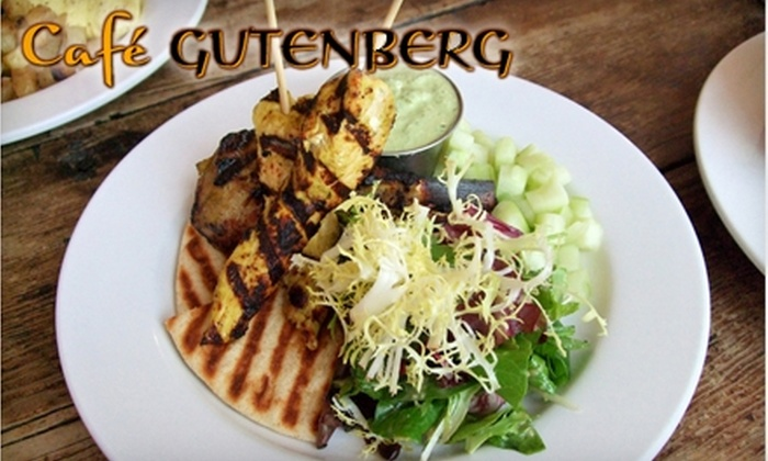 Café Gutenberg - Shockoe Bottom: $10 for $20 Worth of New American Cuisine, Wine, and Beer at Café Gutenberg