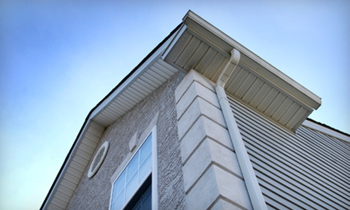 Under Pressure - Framingham: $149 for Home Gutter Cleaning and Façade Power Wash from Under Pressure ($325 Value)